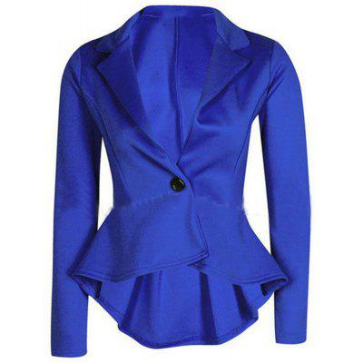 2016 Autumn winter new style lapel one button after short before long woman little suit