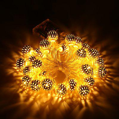 Excelvan 3.2M / 11FT 30LEDs Golden Metal Fairy String Light