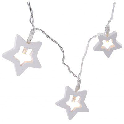 Excelvan 2.5M 10LED Wooden Star Warm White String Light