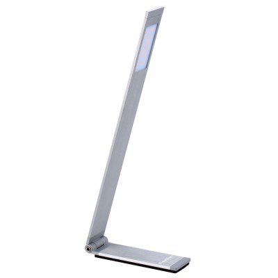 (EU TABLE LAMP L SHAPE)Finether 6W Minimalist L-Shaped Aluminum Folding LED Desk Lamp Table Lamp with Adjustable Arm and In-Line ON/OFF Switch for Reading Study Bedroom Office Dorm Hotel, Silver