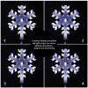 EXCELVAN 0.85M/3FT Blue & White LED Snowflake Pathway Garden Stake Waterproof Light for Christmas Xmas Home/Lawn/Yard/Driveway/Festival/Party/Wedding Garden  Outdoor Decoration (Set of 4) - BLUE WHITE