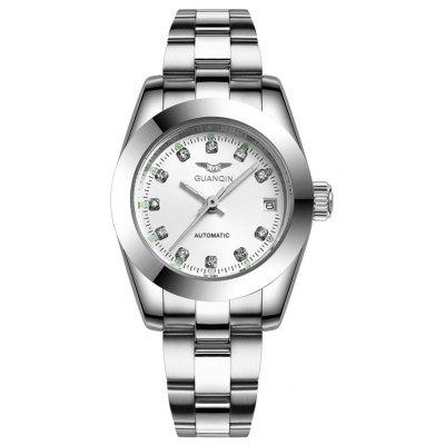 GUANQIN Couples Watch Automatic Mechanical Watch Luminous Sports Self-Wind Watch Ladies' Watch
