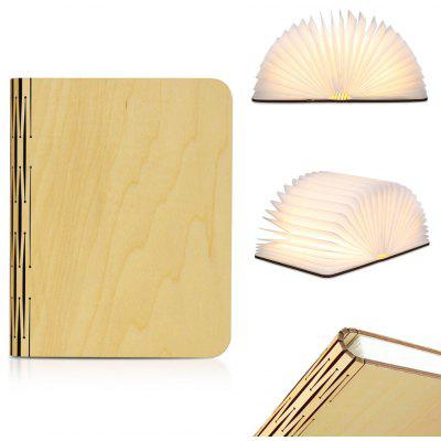 Excelvan Wood Foldable LED Nightlight Booklight