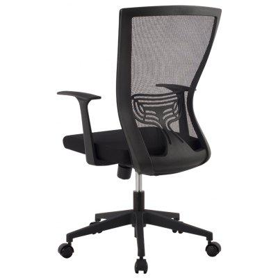 (DE MCB067 Office Chair) LANGRIA Ergonomic Mid-Back Mesh Executive Computer Office Chair, Lumber Support, 360 Degree Swivel, Synchro-Tilt and 3-Position Lock, Black