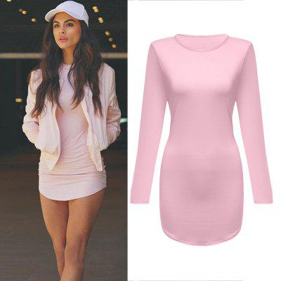 New 2016 Women Summer Autumn Sexy Casual dress 5 Color Fashion elegent Plus Size Dress Vestidos Long Sleeve Bodycon Hip Club Dress