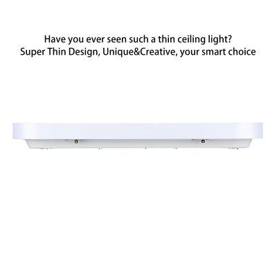 Floureon® Super Thin 48W LED Ceiling Light, 2.4G Wireless Remote Control Infinite Dimming, 29.5inchLED Flush Mount Ceiling Light, 3000LM, 100~240V, Suitable for Living Room, Bedroom, Hotel, Bakery etcFlush Ceiling Lights<br>Floureon® Super Thin 48W LED Ceiling Light, 2.4G Wireless Remote Control Infinite Dimming, 29.5inchLED Flush Mount Ceiling Light, 3000LM, 100~240V, Suitable for Living Room, Bedroom, Hotel, Bakery etc<br>