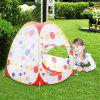 Excelvan kids Toddlers Pop-up Play Tent Polka Dot Triangle Cubby Playhouse with Marine Balls and Fastening Nails Portable Folding Indoor Outdoor Children Game Platy Tent Gift