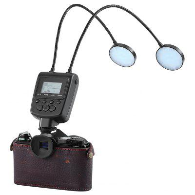 Buy Travor ML-2D magic ELF Two Flexible Metal Tube Adjustable LED Round Light macro Flash with LCD Screen Display Power Control Close-up Photography Lighting for Canon Nikon Sony and Other Standard Hot Sh for $44.48 in GearBest store