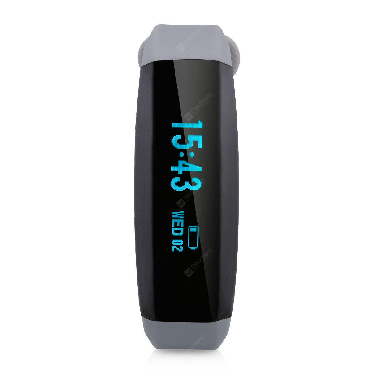 Cubot V2 Heart Rate Bracelet Bluetooth 4.0 Pedometer Calorie Sleep Monitor Call/SMS Reminder Sedentary Reminder Remote Photograph for Android IOS