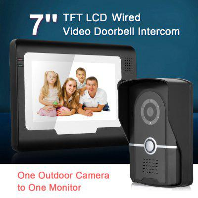 Wired 7\\\ Color  LCD Video Door Phone Security Intercom Doorbell System With IR Waterproof Outdoor Camera Monitor EUAlarm Systems<br>Wired 7\\\ Color  LCD Video Door Phone Security Intercom Doorbell System With IR Waterproof Outdoor Camera Monitor EU<br>