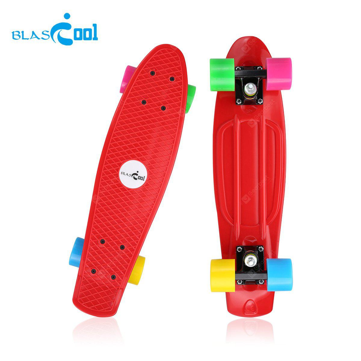Blascool small fish style skateboard with four colorful for Small plastic fish