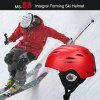 Moon Skiing Helmet Adult Kid Equipment Autumn Winter Snow Skating Sports Integrally-molded Outdoor Ultralight Matte Saftly Snowboard Helmets - 1#