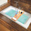 (BATHTUB CADDY)LANGRIA 100% Natural Bamboo Bathtub Caddy Over-the-Tub Tray Organizer with Extendable Sides, Removable Sliding tray, Non-Slip Rubber Base, Waterproof Cloth Book/Pad/Tablet Holder, Slide - LIGHT BROWN