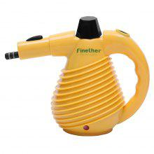 (UK STEAM) Finether 1500W Handheld Pressurized Multi-Purpose Electric Steam Cleaner with 10 Accessories for Cleaning and Sanitizing, Auto Shutoff, GS, EMC and CE Certified, Yellow