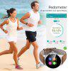 Excelvan K88H Smart Watch Pedometer Heart Rate Monitor Call SMS Reminder Sleep Monitor - BROWN