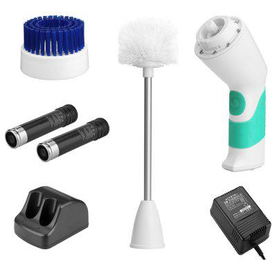 Buy  (JP-Electric Toilet Scrubber) Finether Electric Cordless Power Bathroom Toilet Scrubber Cleaner with 2 Rechargeable Battery and 2 Brushes for $34.66 in GearBest store