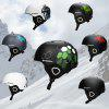 Moon Skiing Helmet Adult Kid Equipment Autumn Winter Snow Skating Sports Integrally-molded Outdoor Ultralight Matte Saftly Snowboard Helmets - 3#