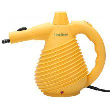 (EU STEAM) Finether 1500W Handheld Pressurized Multi-Purpose Electric Steam Cleaner with 12 Accessories for Cleaning and Sanitizing, GS, EMC and CE Certified, Yellow