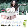 Exquizon E05 Pocket Airplay Miracast  for iOS & Android System for Outdoor Movie Backyard Cinema Theather DLP Home Cinema Projector 1G+8G Bluetooth USB*2 Built-in Battery   White+Golden  US plug - GOLDEN