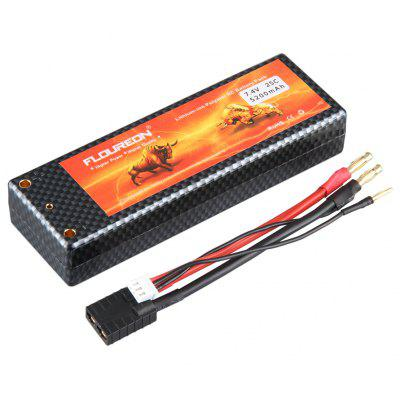 Floureon 2S 7.4V 5200mAh 25C with Traxxas Plug LiPo Battery Pack for RC Evader BX Car, RC Truck, RC Truggy RC Airplane UAV Drone FPV