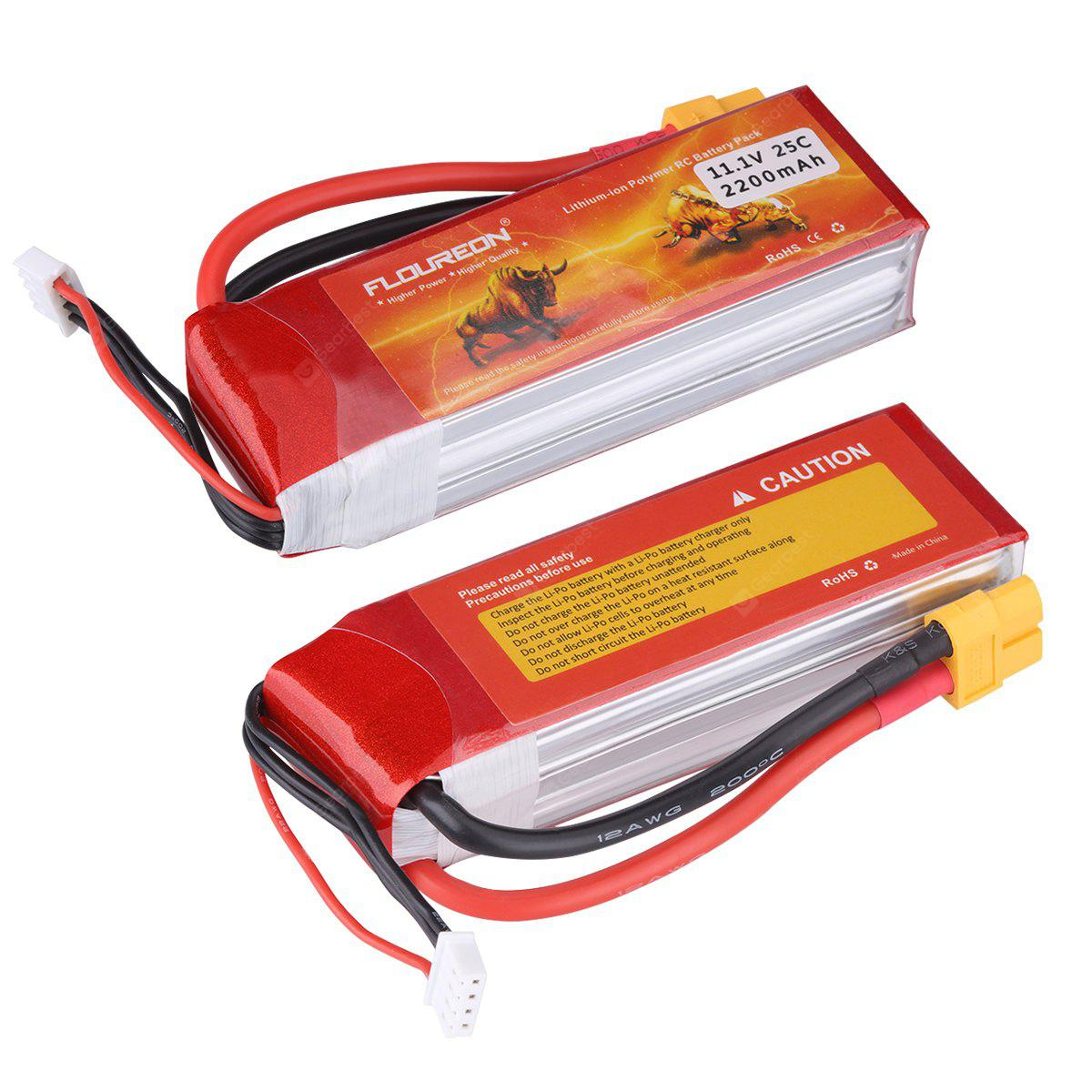 2 X Floureon 3s1p 111v 2200mah 25c With Xt60 Plug Lipo Battery Pack Circuit Pen Ebay For Rc Evader Bx Car Truck Truggy Airplane Uav Drone Fpv 4005 Free