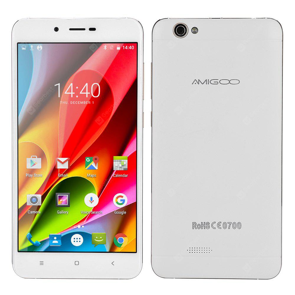 AMIGOO X15 5.5 Inch 2.5D IPS HD Screen MTK6580 Quad Core 1GB RAM 8GB ROM 8.0MP Camera 4000mAh Battery Android 6.0 3G Smartphone