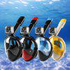 NEOpine Full Face Snorkeling Mask Water Sports Anti-fog Anti-Leak Panoramic Underwater Diving Swimming Snorkel Set Goggles With Breather Pipe Breath Swim For Gopro Camera - BLACK&BLUE