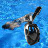 NEOpine Full Face Snorkeling Mask Water Sports Anti-fog Anti-Leak Panoramic Underwater Diving Swimming Snorkel Set Goggles With Breather Pipe Breath Swim For Gopro Camera - BLACK