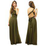 Buy 2016 new style casual fashion sexy multi-way corset woman long braces dinner dress ARMY GREEN