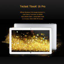 Teclast Tbook 16 Pro Windows 10&Android 5.1 11.6 Inches 1920×1080 Intel®x5-Z8300 Quad-core 4GB+64GB WIFI BT External 3G G-sensor OTG HD Tablet PC