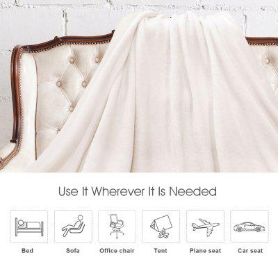 (THROW WHITE)LANGRIA Cozy Flannel Blanket Throw for Adults Kids Home Outdoor Travel, Polyester Microfiber, Wrinkle Resistant, Anti-Fade, 60?x80?, WhiteHome &amp; Garden<br>(THROW WHITE)LANGRIA Cozy Flannel Blanket Throw for Adults Kids Home Outdoor Travel, Polyester Microfiber, Wrinkle Resistant, Anti-Fade, 60?x80?, White<br>