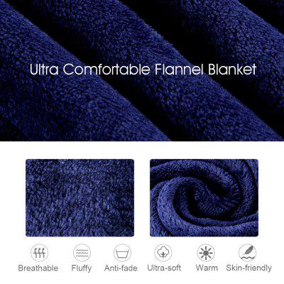 (THROW WHITE)LANGRIA Cozy Flannel Blanket Throw for Adults Kids Home Outdoor Travel, Polyester Microfiber, Wrinkle Resistant, Anti-Fade, 60″x80″, Navy Blue langria flannel mermaid tail blanket for kids baby pink