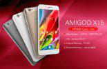AMIGOO X15 5.5 pouces 2.5D IPS HD Ecran MTK6580 Quad Core 1 Go RAM 8 Go ROM Appareil photo 8.0MP 4000mAh Batterie Android 6.0 3G Smartphone - OR