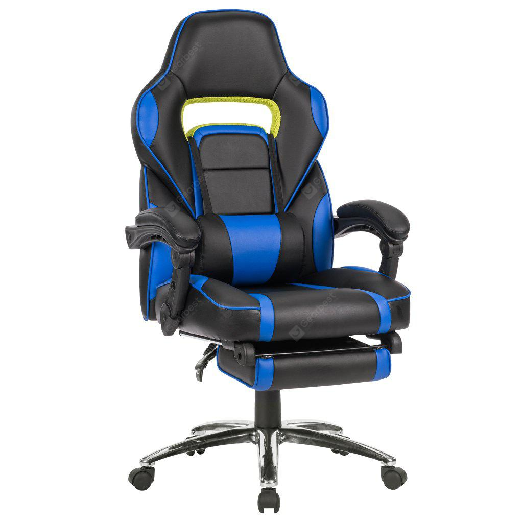 Uk Ml 7384 Red Langria Ergonomic High Back Faux Leather Racing Style Reclining Computer Gaming Executive Office Chair With Padded Footrest And