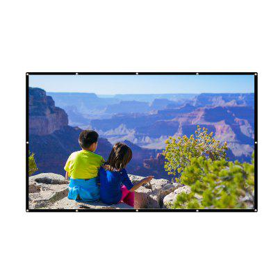 Excelvan 84 Inch 16:9 Collapsible White Portable Projector Cloth Screen With Hanging Hole For Home And Outdoor UseProjector Accessories<br>Excelvan 84 Inch 16:9 Collapsible White Portable Projector Cloth Screen With Hanging Hole For Home And Outdoor Use<br>