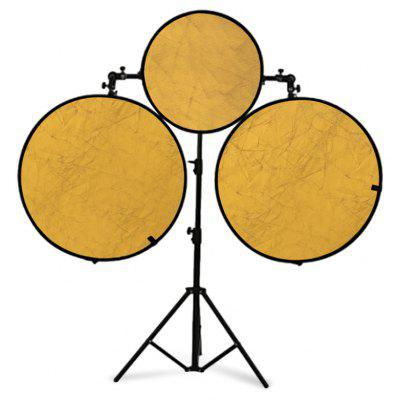 Excelvan 78cm&57cm 2-in-1 Collapsible Multi-Disc Light Reflector portable Photo Studio Gold/Silver Reflector Kit with Holding Bracket and Carrying Bag