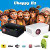 Uhappy HD Projector 720P Wireless WIFI Android HDMI/USB/SD/ATV/AV/VGA 1280*768 home theater zoom black EU - BLACK