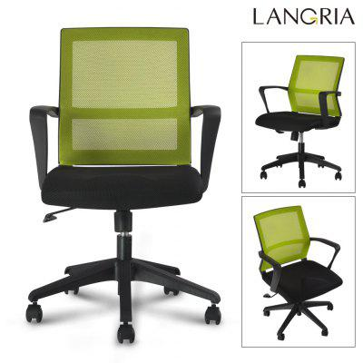 (IT MCB064 GREEN) Finether Mid-Back Swivel Mesh Task Office Chair with Knee-Tilt, 120 Kg Capacity, Green