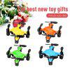Virhuck volar-360 RC Nano Drone 2.4 GHz 4.5 CH 6 AXIS GYRO System Multicolor LED Lights Headless/One Key Return Mode Quadcopter Blue - BLUE