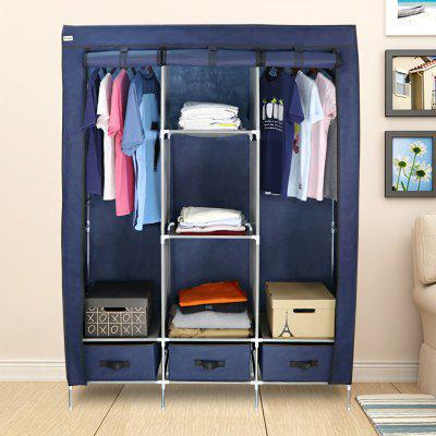 (WARDROBE 3 DOORS &amp; 3 DRAWERS BLUE) Finether 3-Door Portable Zip Closet, Wardrobe Clothes Storage Organizer Rack with Non-Woven Fabric Cover, 8 Shelves, 3 Drawers and 2 Hanging Rods, 88 lbs. Capacity,Home &amp; Garden<br>(WARDROBE 3 DOORS &amp; 3 DRAWERS BLUE) Finether 3-Door Portable Zip Closet, Wardrobe Clothes Storage Organizer Rack with Non-Woven Fabric Cover, 8 Shelves, 3 Drawers and 2 Hanging Rods, 88 lbs. Capacity,<br>