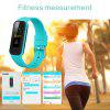 INCHOR WRISTFIT HR2 Heart Rate Bracelet Bluetooth 4.0 Pedometer Calorie Sleep  Monitor Call/SMS Reminder Sedentary Reminder for Android IOS - BLUE