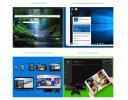 Teclast X80 Power 8.0 inch IPS Support Windows 10 + Android 5.1 Intel Cherry Trail Z8350 64bit Quad Core 2+32G Tablet PC Golden - GOLDEN