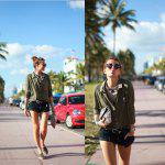 2016 fashion style contrast color button  blouse little stand collar casual long sleeve woman blouse - ARMY GREEN