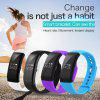 Diggro V66 Heart Rate Smart Bracelet Bluetooth 4.0 Pedometer Calorie Sleep  Monitor Call/SMS Reminder Sedentary Reminder for Android IOS - BLACK