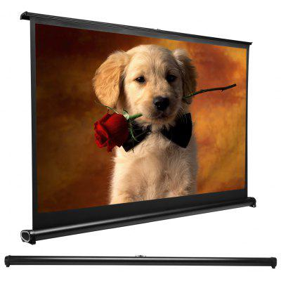 Exquizon Mini Retractable 50 Inch Table Top Projection Screen Suitable For  16:9 Aspect ...