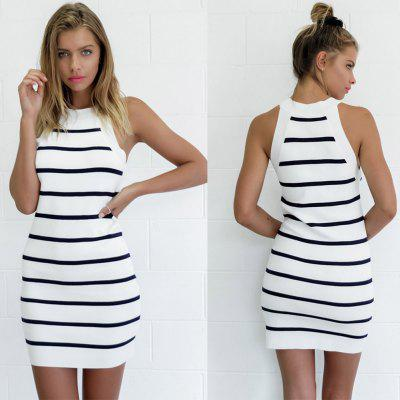 Buy AS THE PICTURE 2016 new arrival sexy stripe dress woman party dress club midi dress for $15.59 in GearBest store