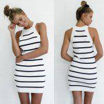 Buy 2016 sexy stripe dress woman party club midi M AS THE PICTURE