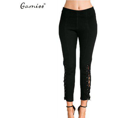 Cross Legged Lace-Up Leggings new arrival woman slim leggings high eleastic pants