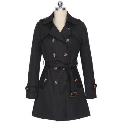 Kenancy Women Slim Overcoat Medium Long Sashes Belted Trench Coat Women shoulder board Double breasted Trench Coat Windbreaker