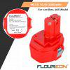 2x Batterie FLOUREON Pour Makita PA14 14.4V 2000mAh Ni-CD Rouge